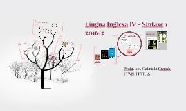 Língua Inglesa IV - Sintaxe 1