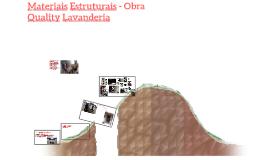 Materiais Estruturais - Obra Quality Lavanderia
