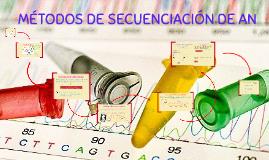 MÉTODOS DE SECUENCIACIÓN