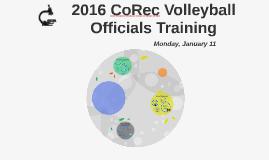 2016 CoRec Volleyball Officials Training