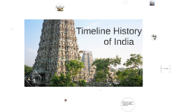 Timeline History of India