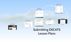 Submitting DECATS Lesson Plans