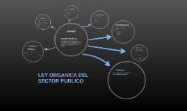 LEY ORGANICA DEL SECTOR PUBLICO