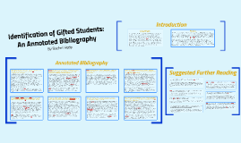 Identification of Gifted Students: