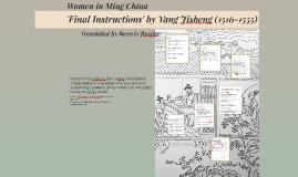 Final Instructions by Yang Jisheng