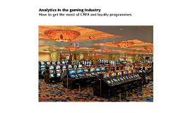 Analytics in the Gaming Industry