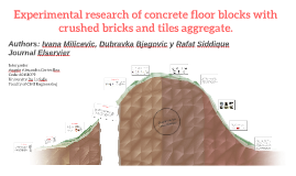 Experimental research of concrete floor blocks with crushed