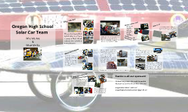Oregon High School Solar Car Team- Who We Are and What We Do