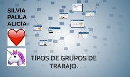TIPOS DE GRUPOS DE TRABAJO.