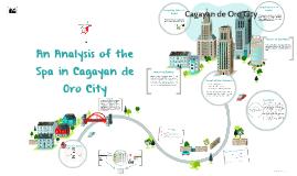 An Analysis of the Spa in Cagayan de Oro City