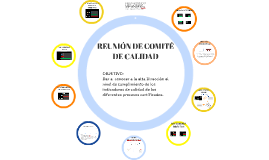 REUNIÓN DE COMITÉ DE CALIDAD