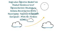 Doğrudan Öğretim Modeli'nin İlkokul Dördüncü Sınıf Öğrencile