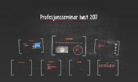 Profesjonsseminar høst 2017
