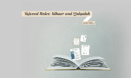 Tajweed Rules: Idhaar and Qalqalah