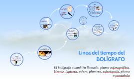 Copy of Línea del tiempo del BOLÍGRAFO