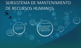 SUBSISTEMA DE MANTENIMIENTO DE RECURSOS HUMANOS