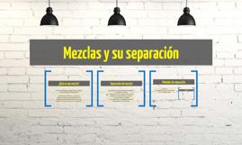 Mezclas y su separación