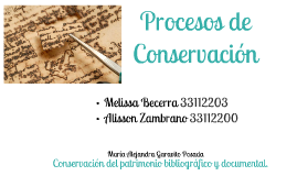 Copy of Conservación