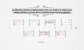 La ideación suicida en adolescentes entre 14 y 16 años de ed