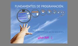 FUNDAMENTOS DE PROGRAMACIÓN.