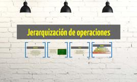 Jerarquización de operaciones