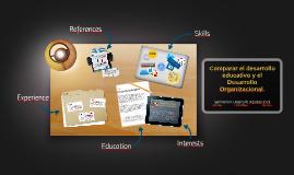 Comparar el desarrollo educativo y el Desarrollo Organizacio