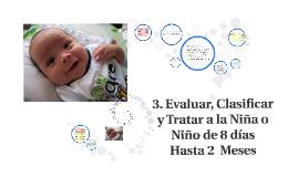 3. Evaluar, clasificar y tratar a la niña o niño