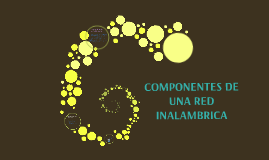 Copy of COMPONENTES DE UNA RED INALAMBRICA