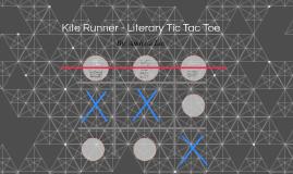 Kite Runner - Literary Tic Tac Toe
