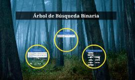 Árbol de Búsqueda Binaria