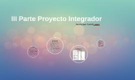 III parte Proyecto integrador