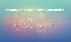Band Announcements