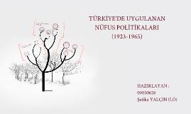 Copy of TÜRKİYE'DE NÜFUS POLİTİKALARI