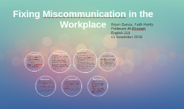 Fixing Miscommunication in the Workplace