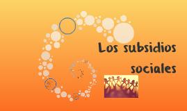 Los subsidios sociales