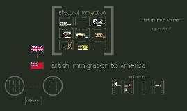 Case Study of British Immigrants to America