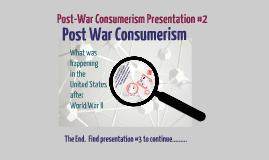 Post-War Consumerism #2