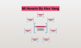 Mi Horario By Alex Vang