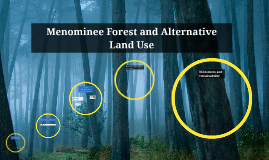 Copy of Menominee Forest and Alternative Land Use