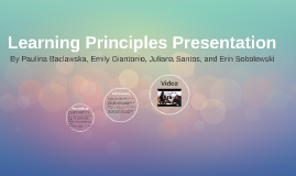 Learning Principles Presentation