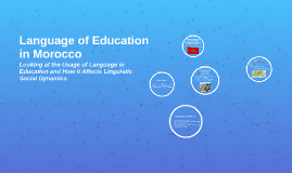 Language of Education in Morocco