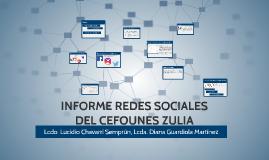 INFORME REDES SOCIALES DEL CEFONES ZULIA