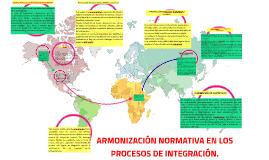 ARMONIZACIÓN NORMATIVA EN LOS PROCESOS DE INTEGRACIÓN.