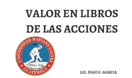Copy of VALOR EN LIBROS DE LAS ACCIONES