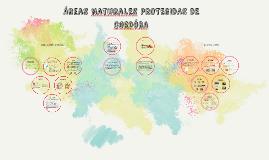 Areas NaturaLES PROTEGIDAS DE CORDOBA