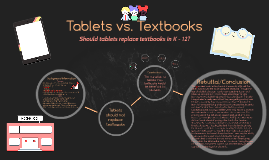 Tablets vs. Textbooks