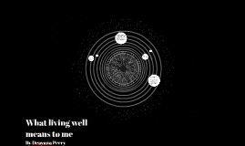 What living well means to me