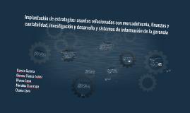 Implantación de estrategias: asuntos relacionados con mercad