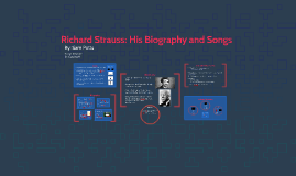 Richard Strauss: His Biography and Songs