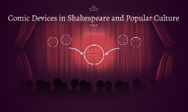 Comic Devices in Shakespeare and Popular Culture